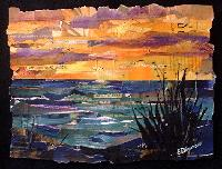 kauaii collage eileen downes ocean beach sunset